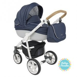 bērnu rati ROAN BASS Carbon White-Marine, Детские коляски