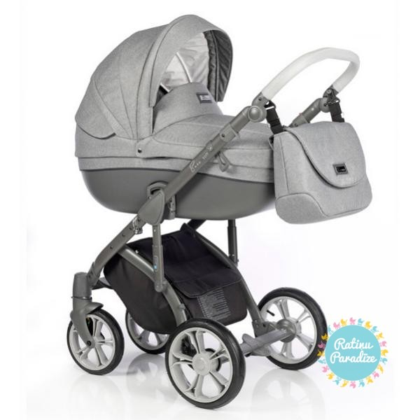 bērnu rati ROAN BASS SOFT Grey Dots, Детские коляски