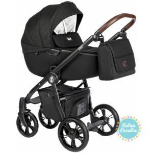 bērnu rati ROAN ESSO Total Black, Детские коляски