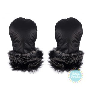 gloves inverno no.1 col black with silver fur 1