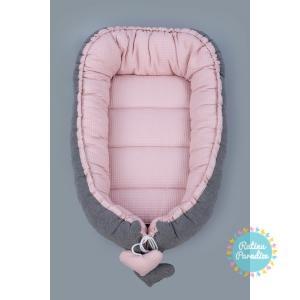 TUTTOLINA Гнездышко – кокон для новорожденных Waffle pink