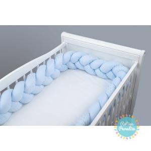 TUTTOLINA Мягкий Бортик для детской кроватки ginko mint