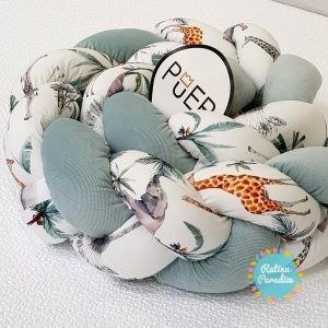 TUTTOLINA Мягкий Бортик exclusive SAFARI для детской кроватки
