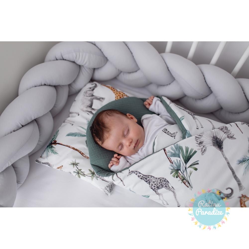 Pīta kokvilnas apmalīte bērna gultiņai