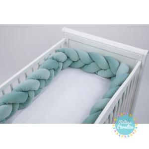 Pīta kokvilnas apmalīte bērna gultiņai velvet mint