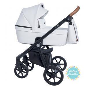 bērnu rati ROAN COSS eco āda-caramel-white -Детские коляски