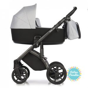 Bērnu rati ROAN BASS NEXT chrome shade детская коляска рига