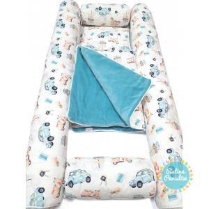 Kokvilnas apmalīte bērna gultiņai