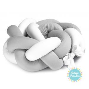 Gultas apmale pīta Flooforbaby (190cm) - Grey White