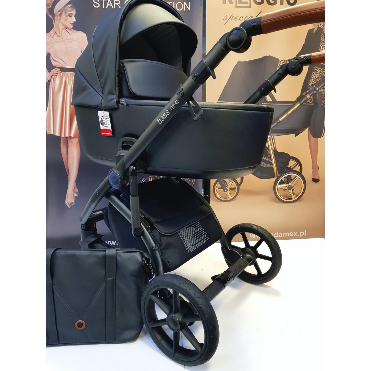Bērnu-rati-ROAN-BASS-NEXT-ECO-ĀDA-black-детская-коляска-Roan