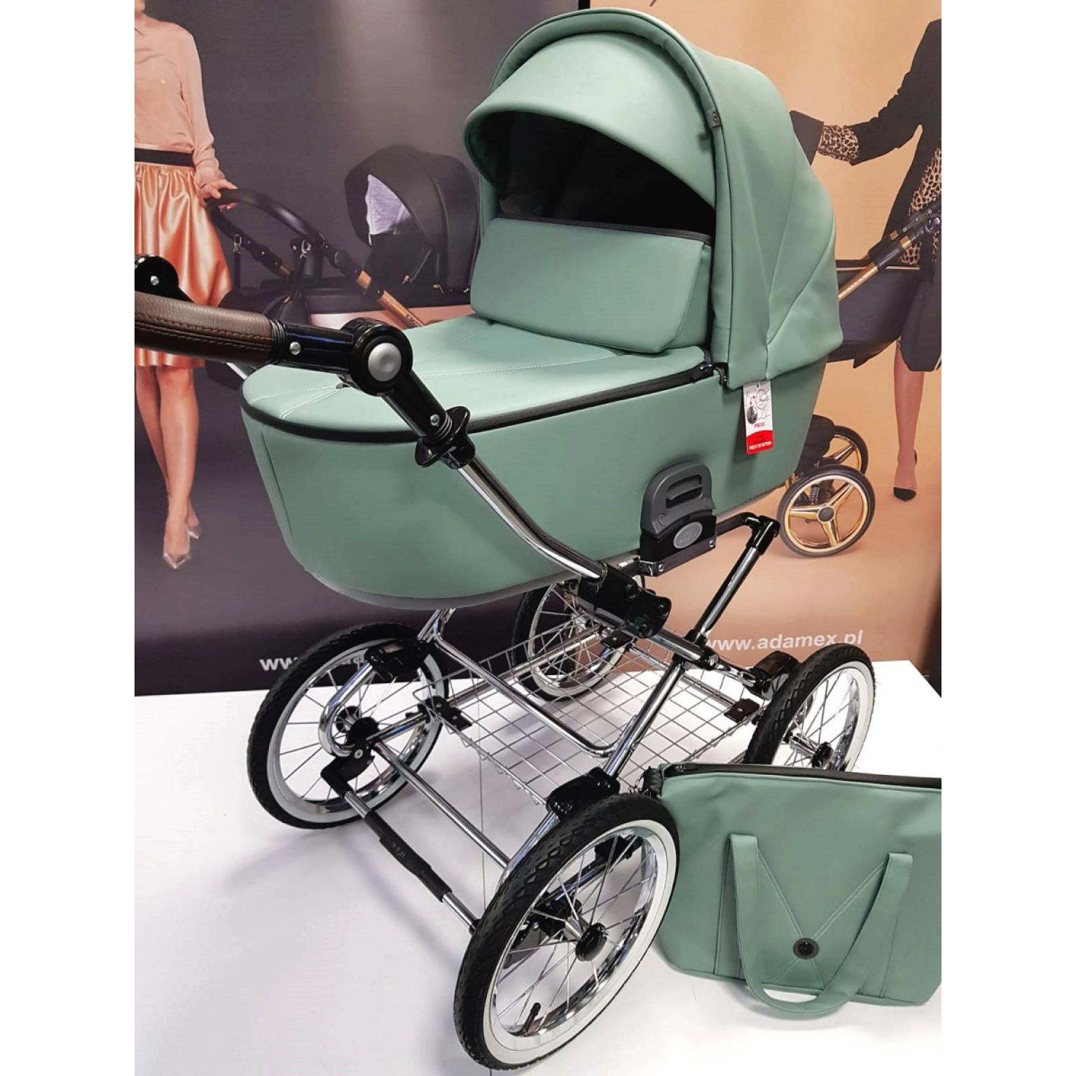 Bērnu-rati-Roan-Bass-Next-classic-eco-āda-Misty-Mint-детская-коляска-roan-bass-next-Classic-2