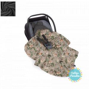 Sedziņa-konverts autokrēsliņām Babysteps - animals-dark gray
