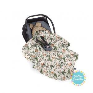 Sedziņa-konverts autokrēsliņām Babysteps - animals - garden beige