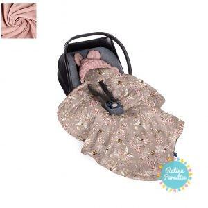 Sedziņa-konverts autokrēsliņām Babysteps - cherry dark sepia rose