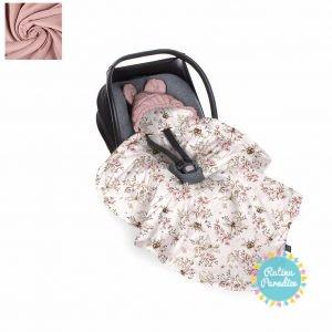 Sedziņa-konverts autokrēsliņām Babysteps - cherry light - sepia rose