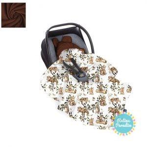 Sedziņa-konverts autokrēsliņām Babysteps - Happy bear - cappuccino
