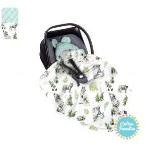Sedziņa-konverts autokrēsliņām Babysteps - Wolf - sky gray