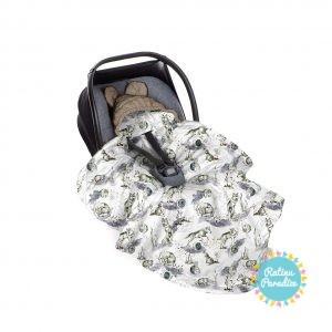 Sedziņa-konverts autokrēsliņām Babysteps - Wolf - vintage khaki