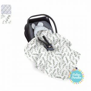 Sedziņa-konverts autokrēsliņām Babysteps - eucaliptus - gray