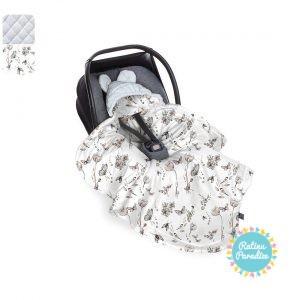 Sedziņa-konverts autokrēsliņām Babysteps - Natura gray