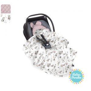 Sedziņa-konverts autokrēsliņām Babysteps - Sepia rose
