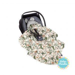 Sedziņa-konverts autokrēsliņām Babysteps - animals gray