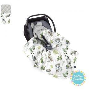 Sedziņa-konverts autokrēsliņām Babysteps - Wolf - gray