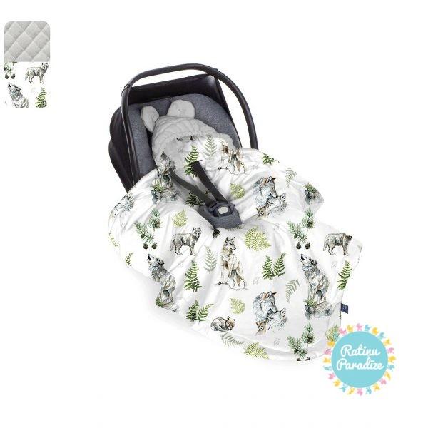 Sedziņa-konverts-autokrēsliņām-Babysteps-wolf-gray