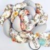 Kokvilnas apmalīte bērna gultiņai PUER exclusive – Flowers light gray(7)
