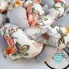 Kokvilnas apmalīte bērna gultiņai PUER exclusive – Flowers light gray(4)