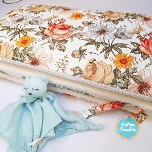 Apmalīte bērnu gultiņai (180cm) PUER — Flowers (1)