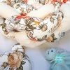 Kokvilnas apmalīte bērna gultiņai PUER exclusive – Flowers beige(7)