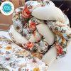 Kokvilnas apmalīte bērna gultiņai PUER exclusive – Flowers beige(4)