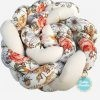 Kokvilnas apmalīte bērna gultiņai PUER exclusive – Flowers beige(1)