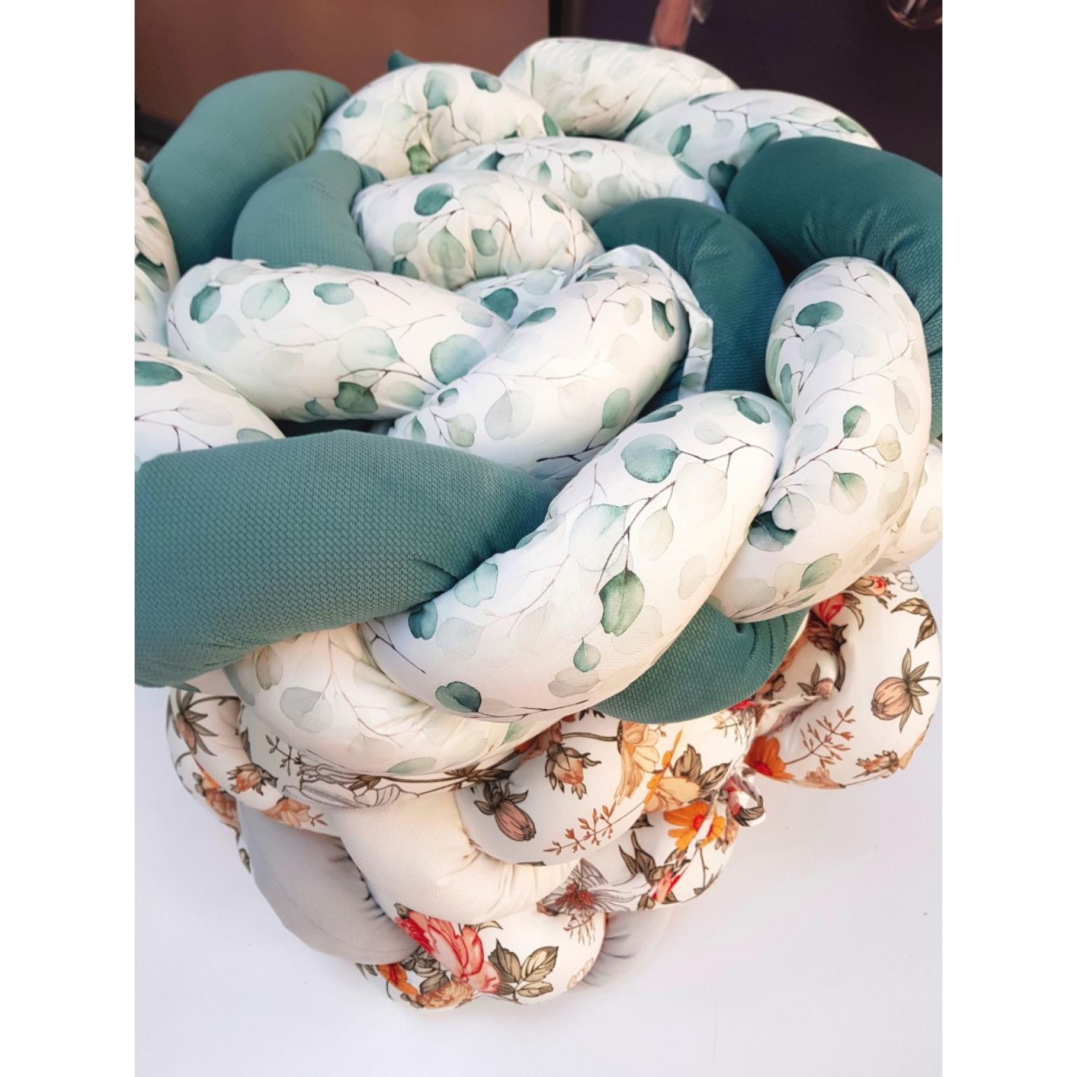 Kokvilnas-apmalīte-bērna-gultiņai-Бортик-Косичка-PUER-exclusive-Eucalyptus-(5)