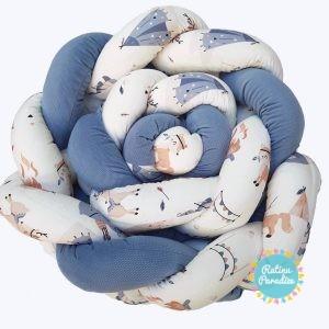 Apmalīte bērna gultiņai PUER exclusive – Vigvam blue(1)