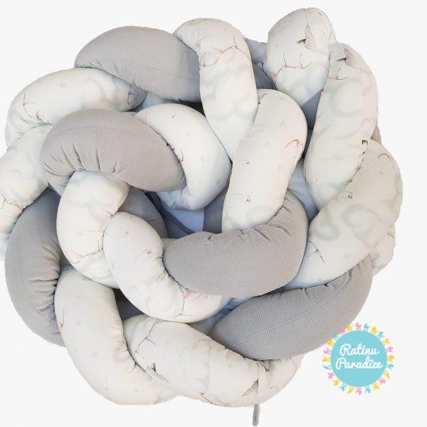 Apmalīte-bērna-gultiņai-PUER-exclusive-Swans-(1)