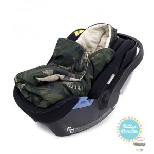 Divpusēja sedziņa-konverts autokrēsliņām Makaszka (Kokvilna+Velvets) — Jungle Detectives (1)